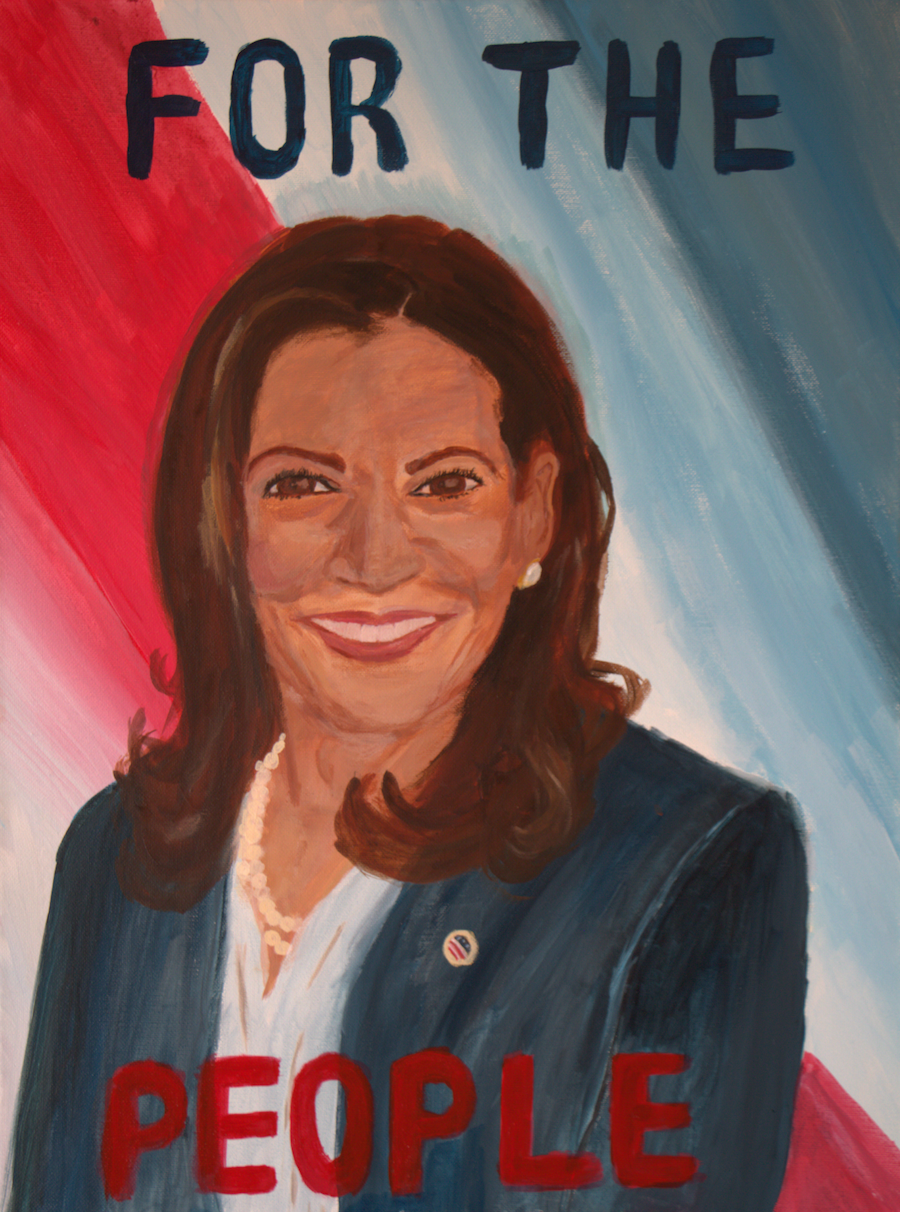 Kamala Harris painting
